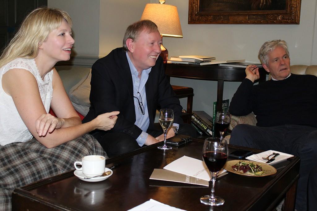 Nigel Nicholson at a KRF planning meeting
